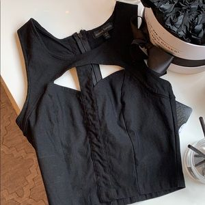 Black crop top from LF